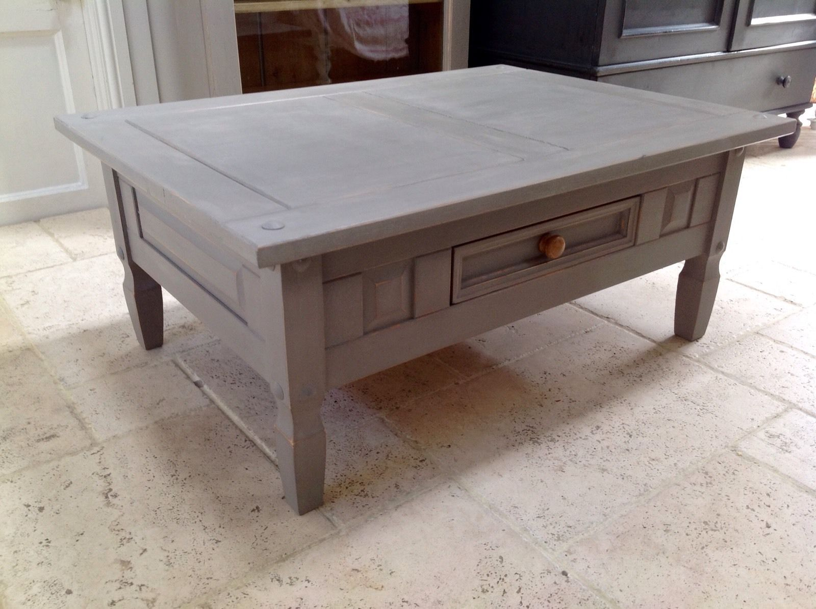 Grey coffee table fabulous monarch coffee sofa u end tables affordable accent tables with grey Painted coffee table